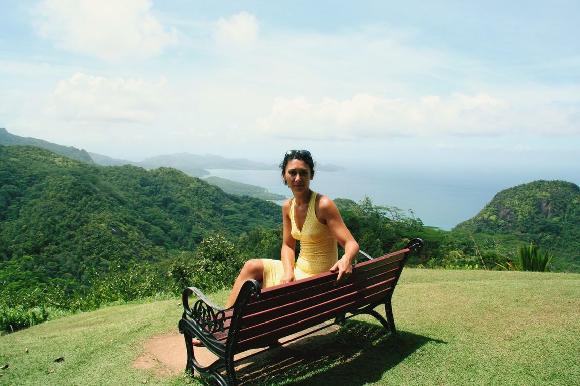 Looking for Relaxing will find this Window on the World . Looking at this Landscape for days!! Hello World Tea Factory Mahé Seychelles