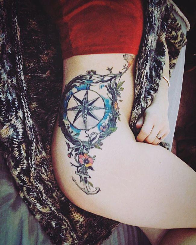 Tattoo Compass Nature Nautical Theme ArtWork Sidetattoos Tacoma That's Me Taking Photos Tatted