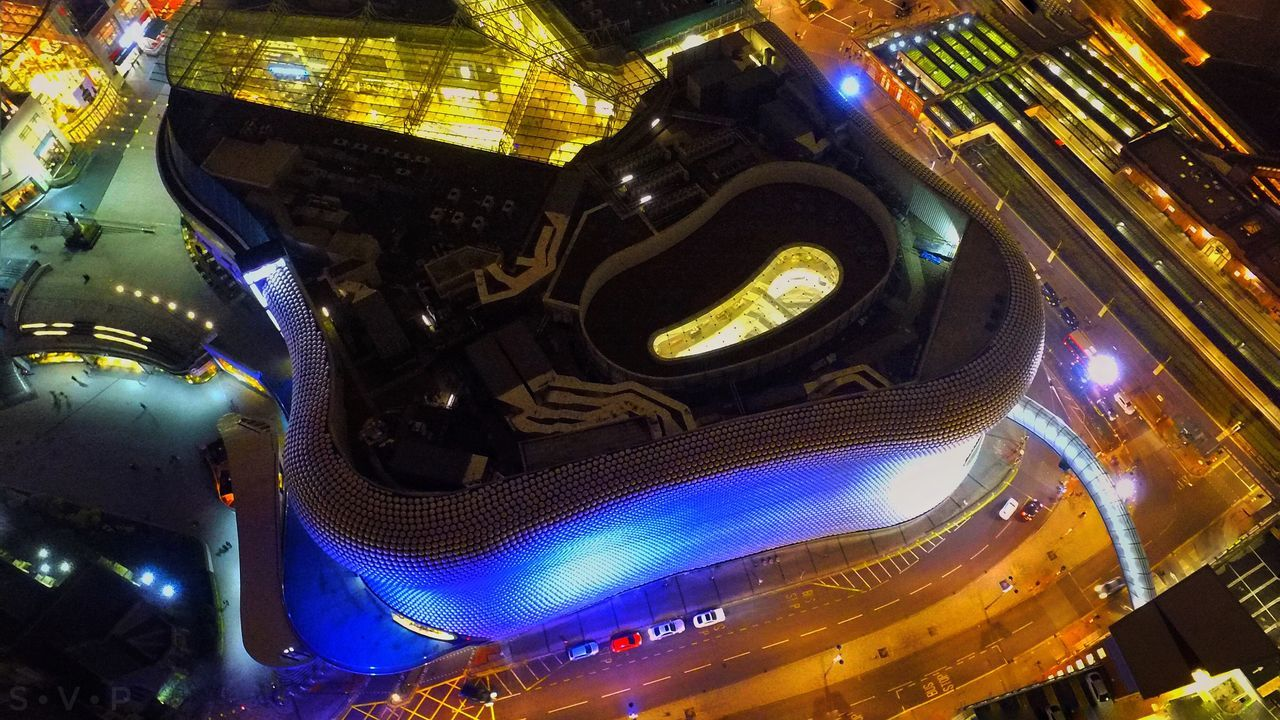 Selfridges City Illuminated Night Aerial View Travel Destinations Road Building Exterior Cityscape Outdoors No People Motion Speed Architecture Dronephotography Photooftheday Snapseed Pictureoftheday Sky Cityscape Architecture City Blurred Motion Street Light Long Exposure