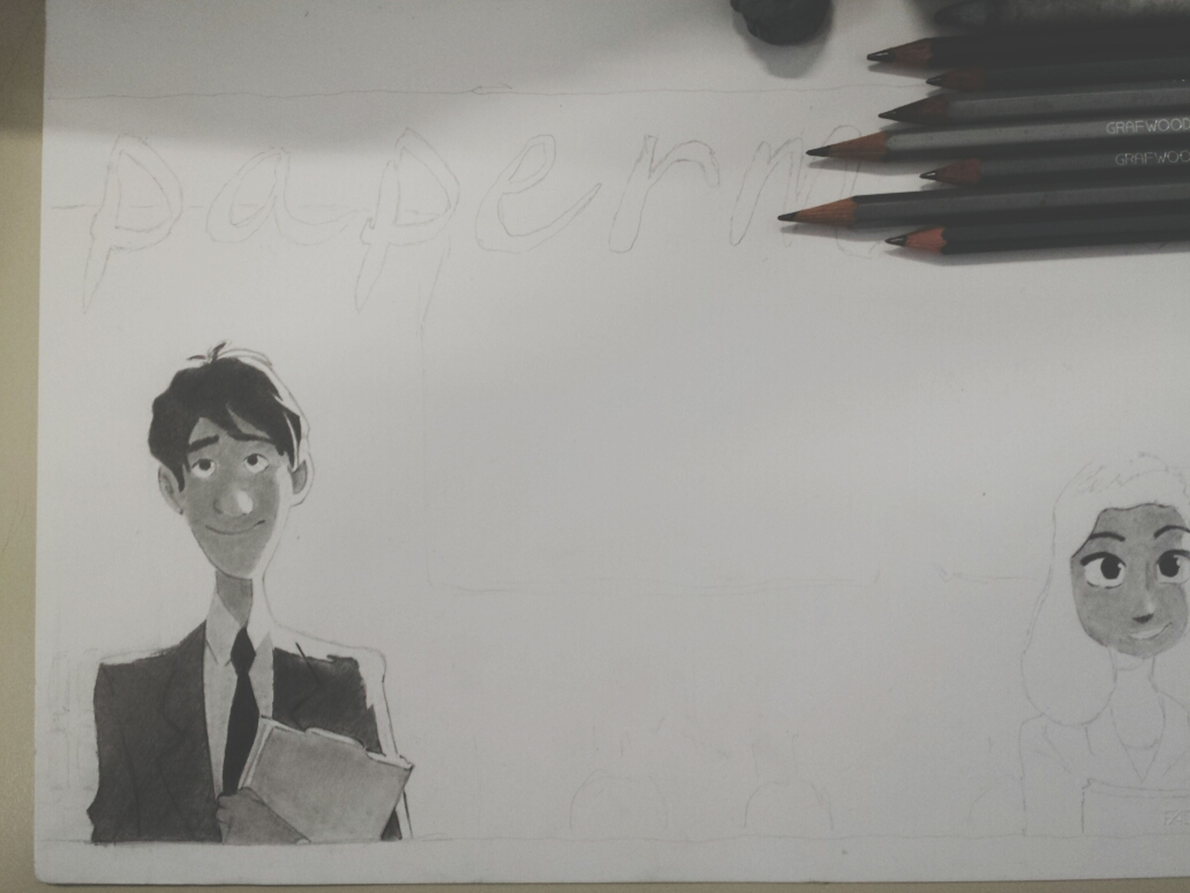 Drawing paperman at school (: I'm bored.. Drawing Smile Art Happy