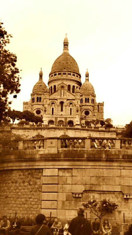 Architecture Church Sacre Coeur Paris Je T Aime Paris ❤ Famous Place París In Sepia