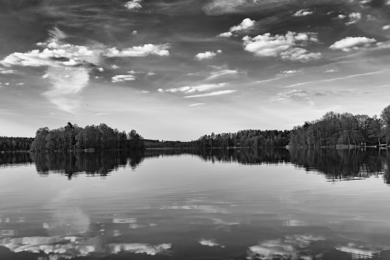 Beauty In Nature Cloud - Sky Day Exceptional Photographs Lake Landscape Miles Away Nature No People Outdoors Reflection Scenics Sky Tranquil Scene Tranquility Tree Water Waterfront Standing Water Reflection Lake Lakeview Lakeside Lakeshore Lake View Hello World