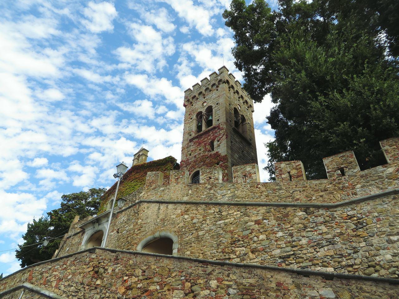 Building Exterior Low Angle View Built Structure Tower Sky Architecture History Cloud - Sky Castle Ancient No People Outdoors Medieval Clock Tower Bell Tower Bell Bella Italia EyeEmNewHere