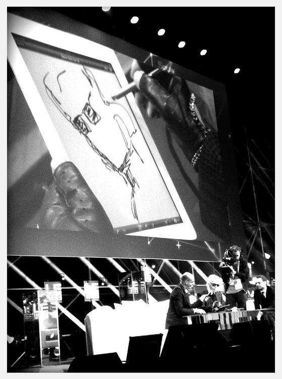Be yourself signed by Karl Lagerfeld at #Leweb11 by Paulamarttila