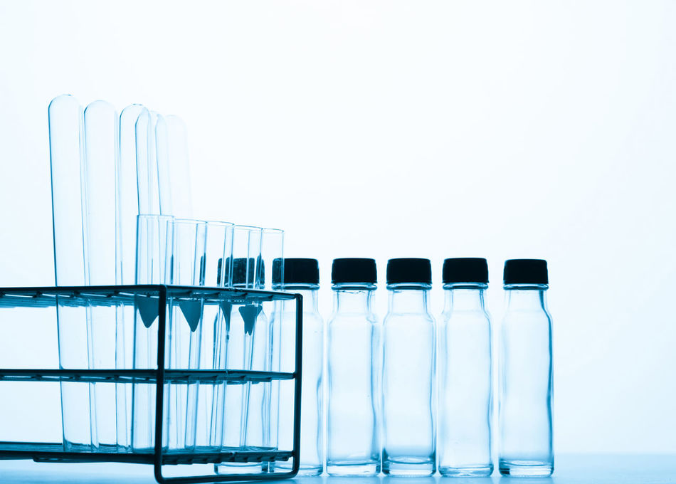 science background Close-up Day Freshness In A Row Indoors  No People Science Studio Shot Test Tube White Background