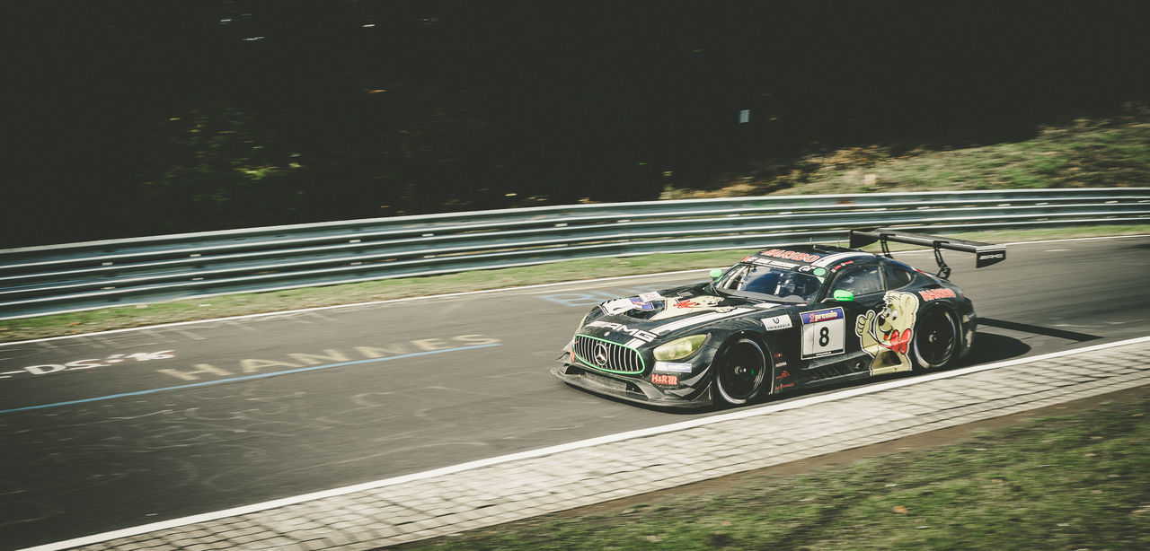 Black Gt3 Land Vehicle Mercedes Motorsport Night No People Outdoors Photo Photography Photooftheday Race Racecar Racetrack Road Sports Race Transportation Tree