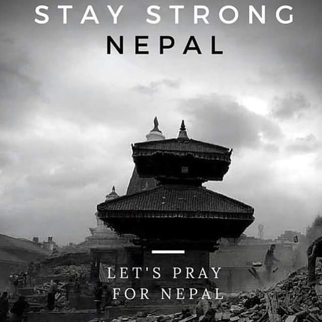 The world unites when something goes wrong in a particular part we're bounded with a relation called humanity so lets hope and PrayforNepal Staystrongnepal