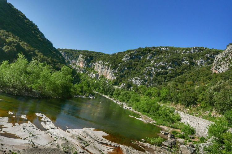 The Herault river Travel DestinationsOutdoors Lake Water Scenics Sky Landscape Beauty In Nature Clear Sky Nature Mountain Beauty In Nature France Cloud - Sky Nature