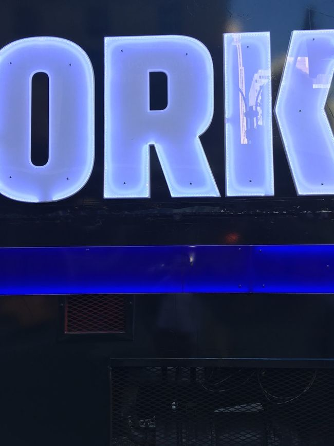 Blue Close-up Communication Full Frame Geometric Shape Neon Lights Ork Reflection Text Type Typography Western Script