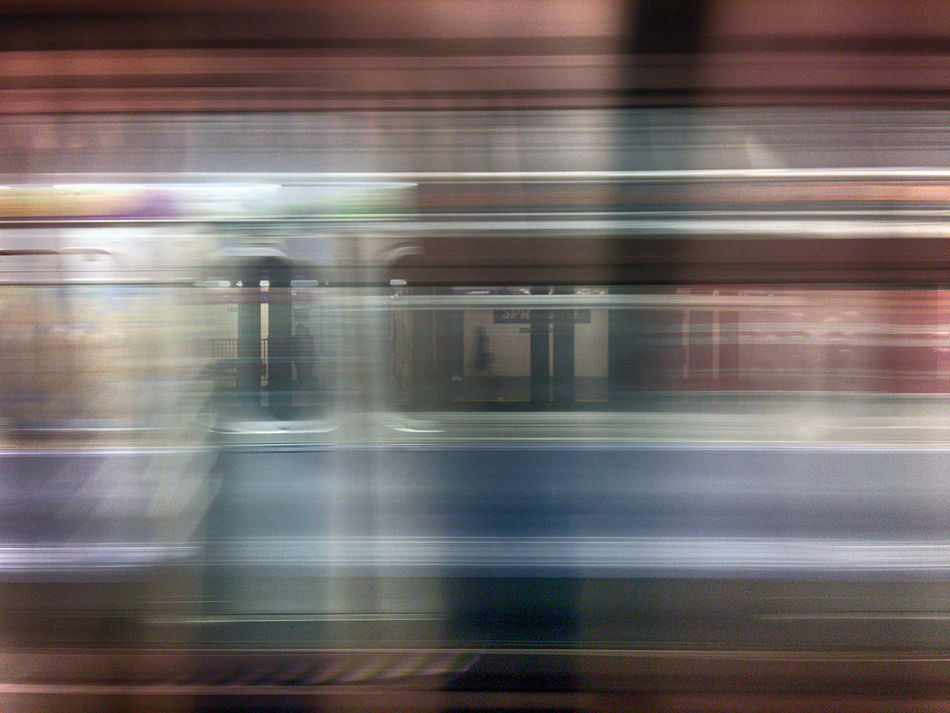 The subway train arrives at NYC's Spring Street station. Blurred Motion Mode Of Transport Movement New York City NYC Photography In Motion Public Transportation Rail Transportation Railroad Station Railroad Station Platform Subway Subway Car Subway People Subway Station Train - Vehicle Transportation