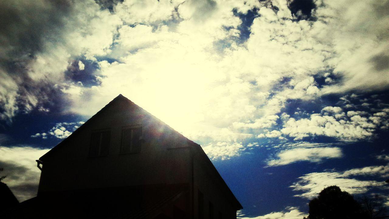 Krasné podzimní odpoledne Sun Sky October