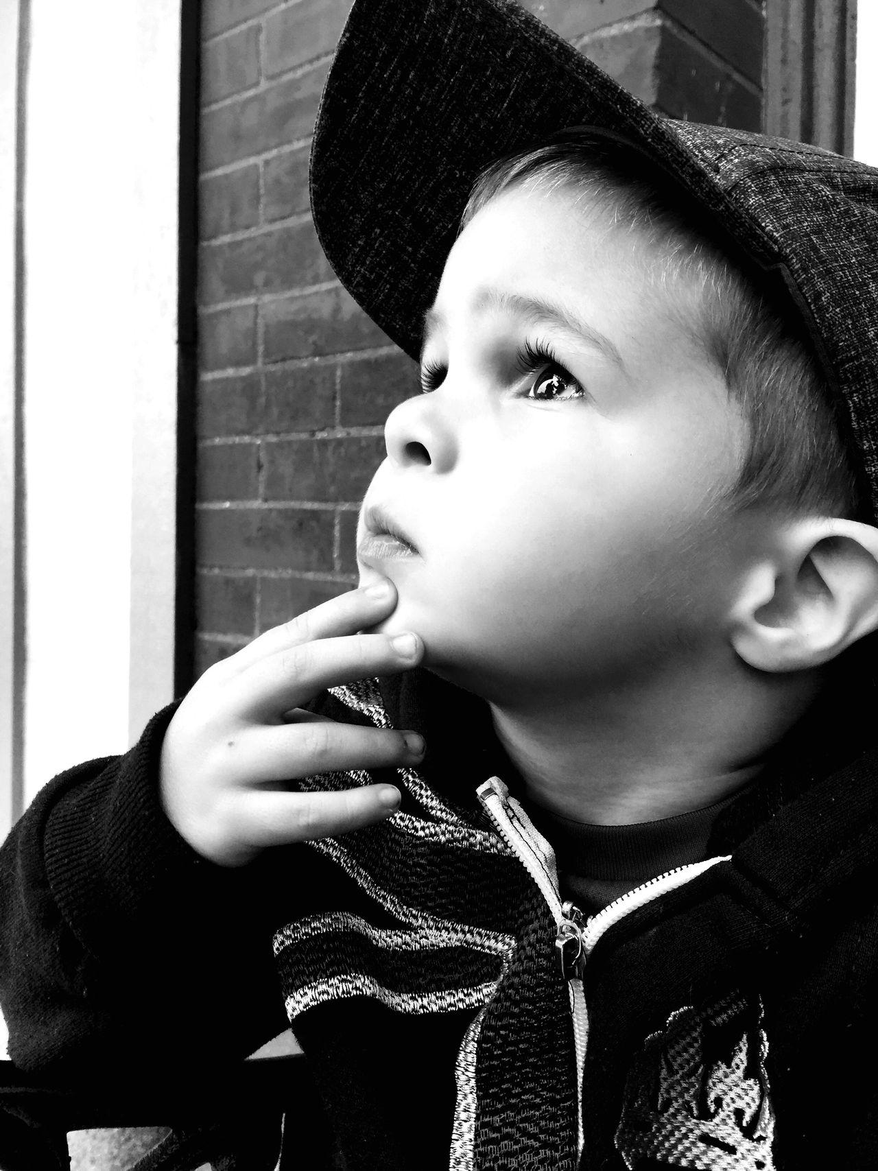 Shades Of Grey -If I Only Knew B&W Portrait Grandson Michigan United States