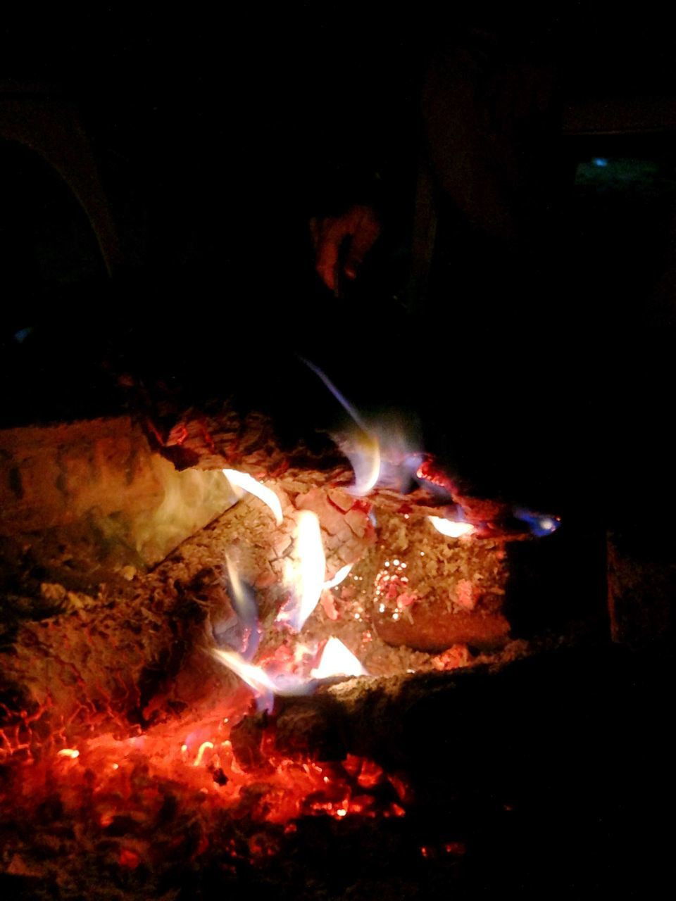 flame, burning, heat - temperature, night, glowing, no people, bonfire, indoors, close-up, fire pit, molten, diya - oil lamp