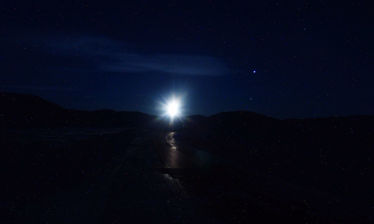 Landscape Nature_collection Night Nature Scenics Nature Moonlight Moon The Real Greenland Moonset Check This Out EyeEm Best Shots - Nature EyeEm Best Shots Outdoors Nature Photography