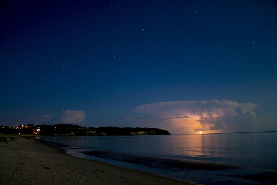 Beautiful stock photos of moon, Horizontal Image, beach, beauty in nature, blue