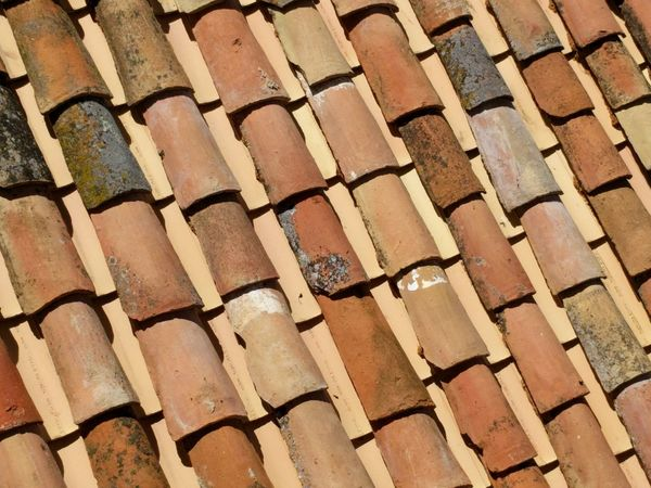 Roof Roof Tile Earthy Colors