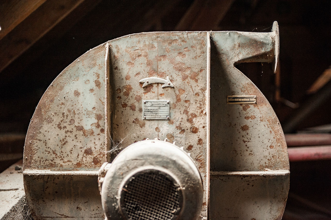 Attic Close-up Day Dust Generator Metal No People Old Machines Outdoors Past Times  Rusty