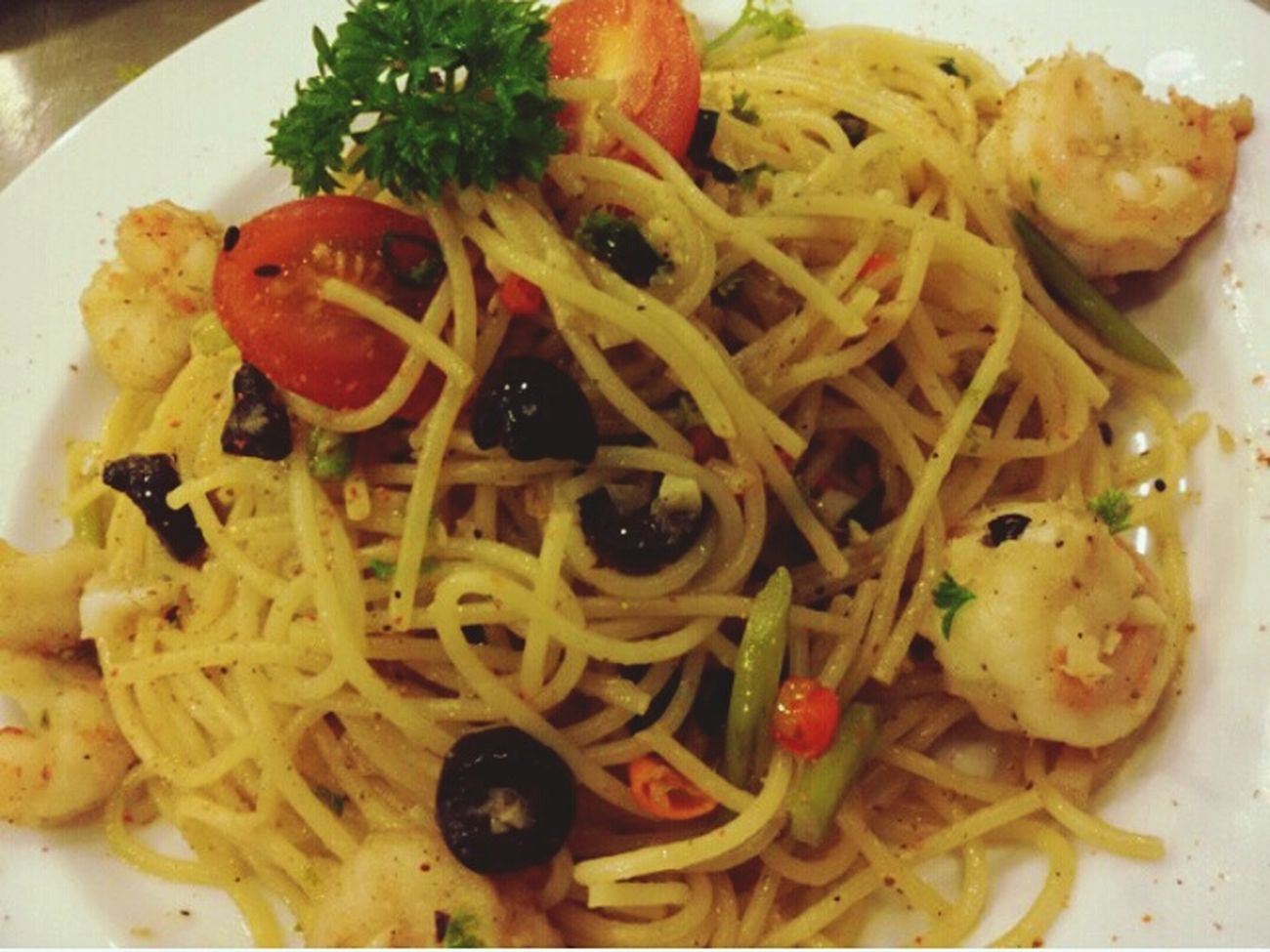 What's For Dinner? Having Spaghetti Aglio Olio make by me.. LangkawipermataKedah