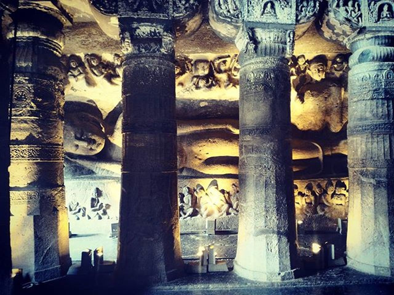 Ajanta Caves....this is what you call a perfect piece of art..... More to come Instadaily Instapicoftheday Bestphoto Budhism Budha Ajantacaves Asuszenfone2 Mobilephotography Art History
