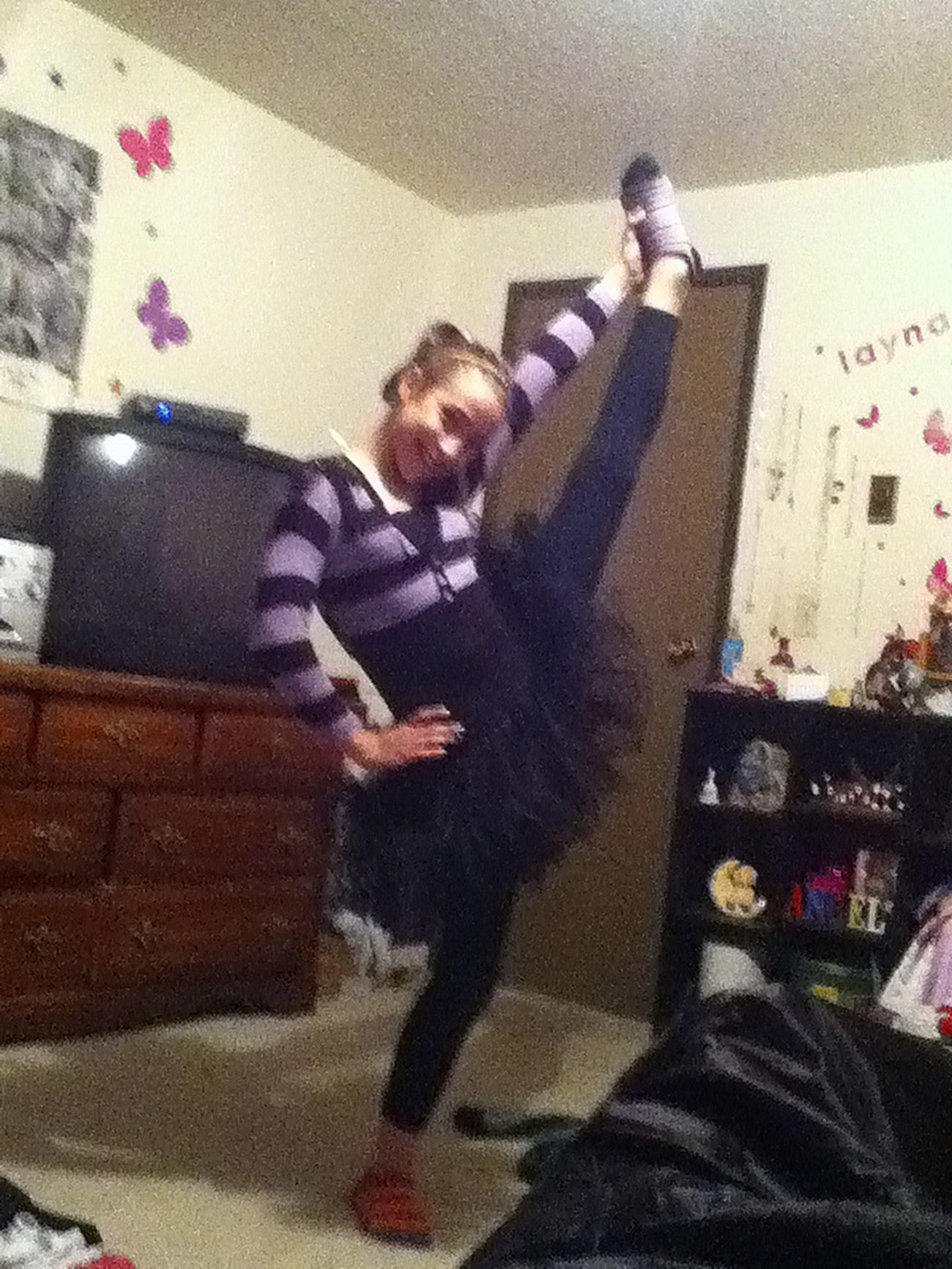 my lil sis Gymnastics Flexable