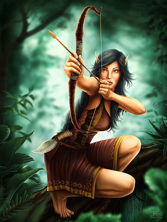Green Elf, digital illustration made in Adobe Photoshop. Elf Illustration Drawing Photoshop Nature Adobe Art Green Fantasy