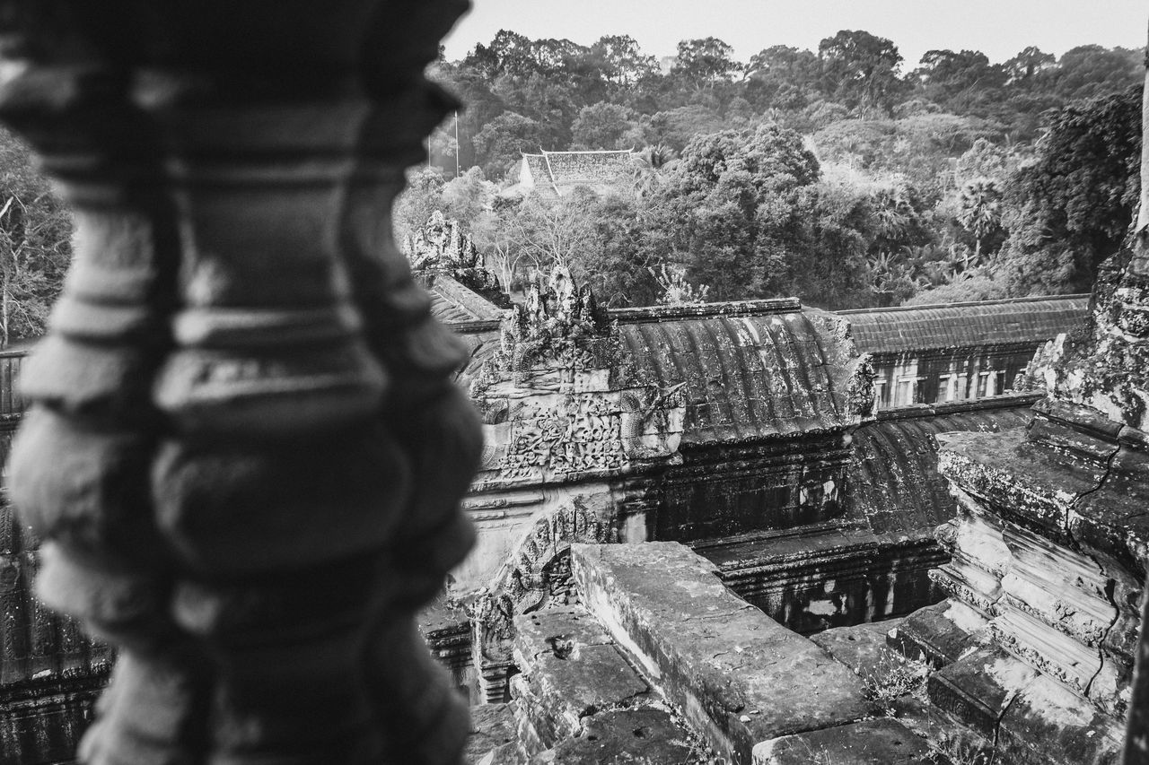 Angkor Wat Architecture Blackandwhite Building Exterior Built Structure Cambodia Day Eyeem Cambodia No People Outdoors Place Of Worship Religion Sky Spirituality Temple Travel Destinations Tree