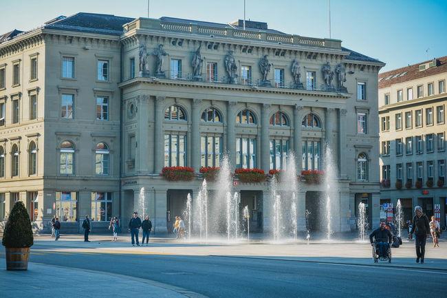 Architecture Bern Berna Building City Life Fountain HDR Suisse  Swiss Switzerland Tourism Travel Destinations
