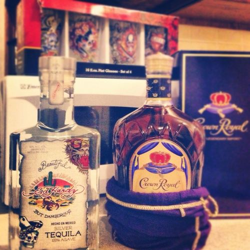 Ed Hardy->Tequila & Crown Royal->Canadian Whisky
