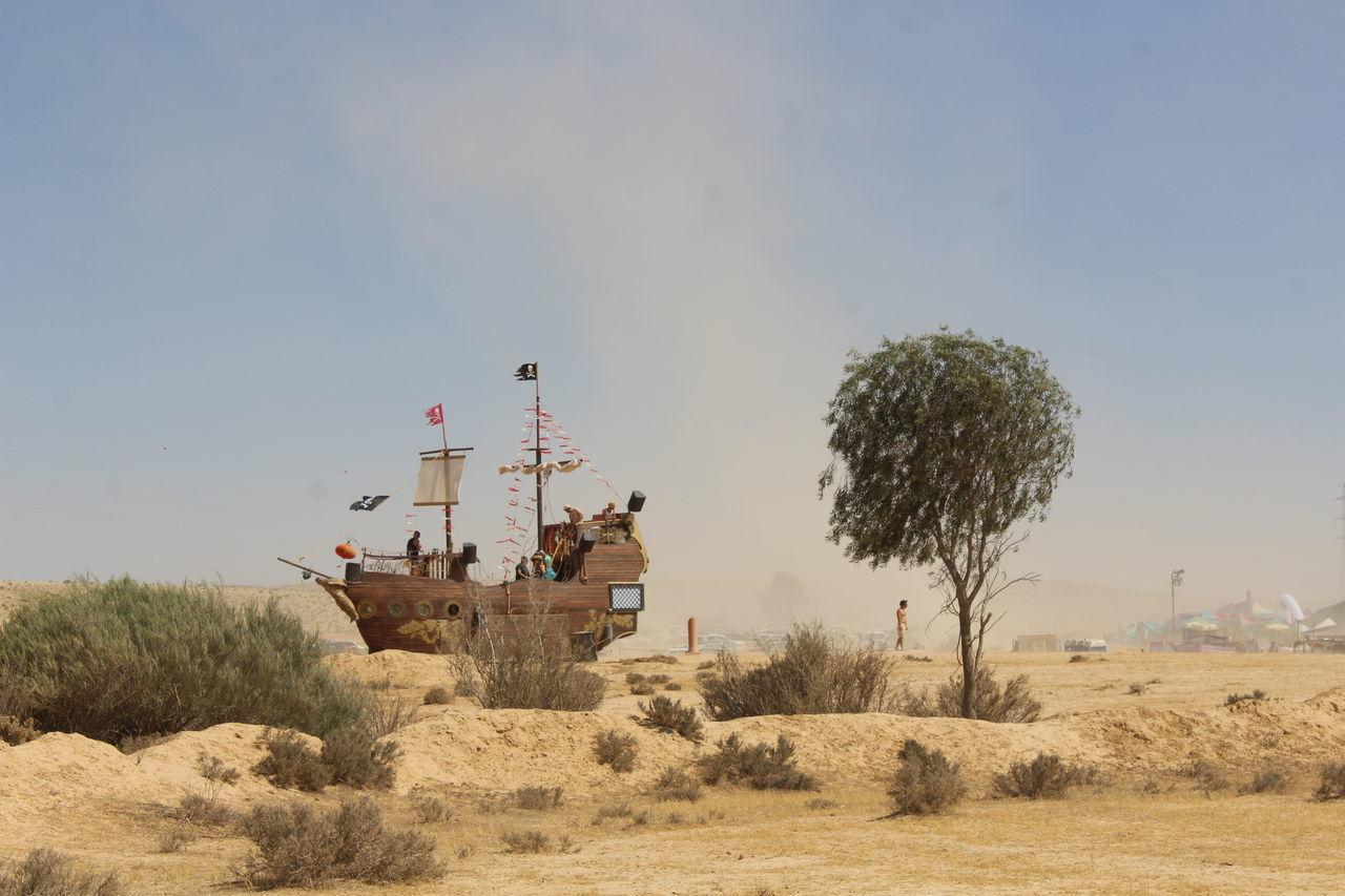 Day Desert Midburn Negevdesert Outdoors Pirateship  Sand Sky Surreal