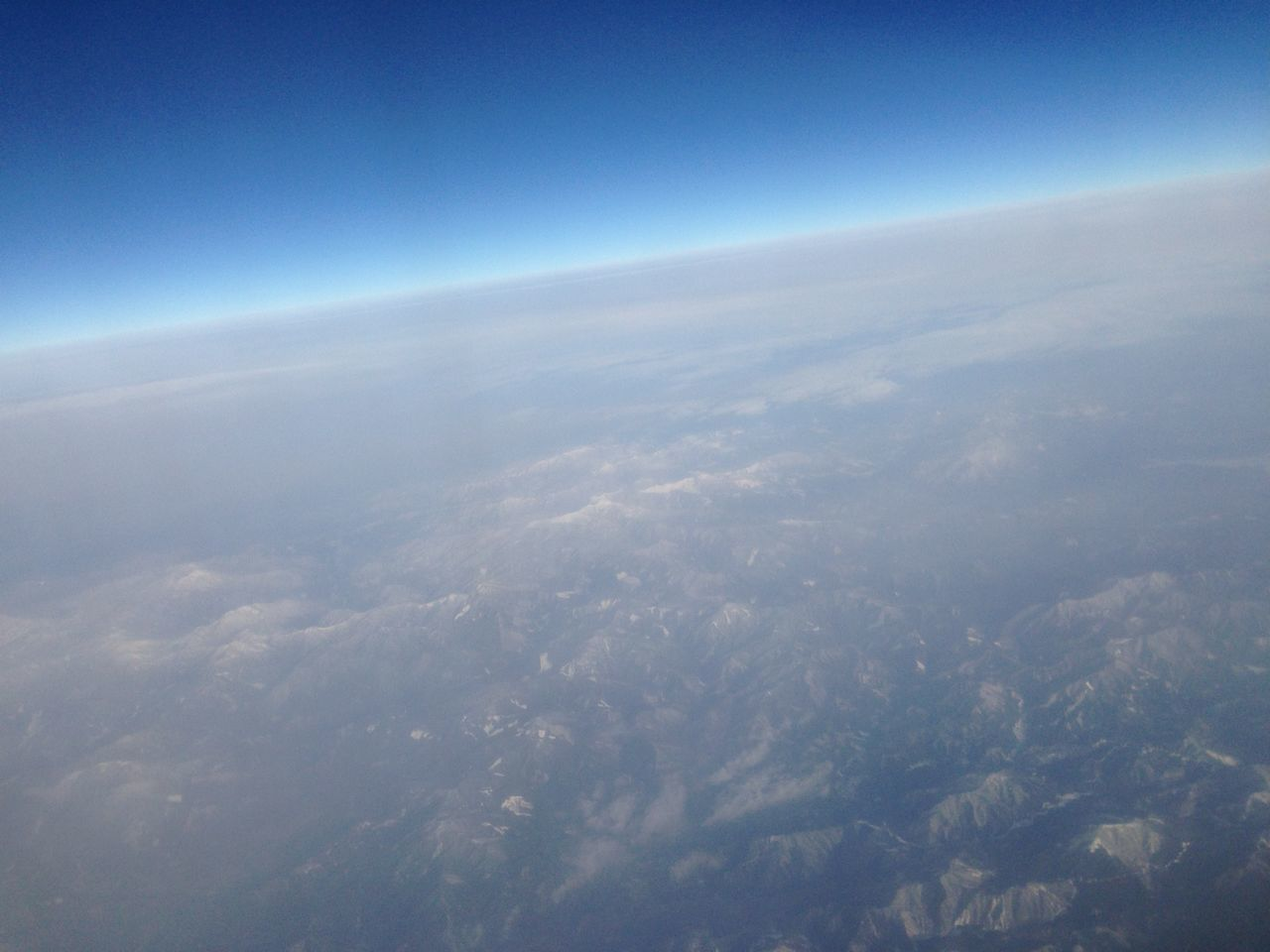 From An Airplane Window Sky Clouds And Sky Sky High Stratospheric Aviation