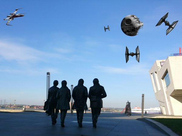 May The 4th Be With You Pier Head Liverpool Tiefighter Xwing Death Star May The Fourth Be With You May The 4th Be With You Starwars Arts Culture And Entertainment Liverpool, England Liverpool Merseyside Starwars Beatles