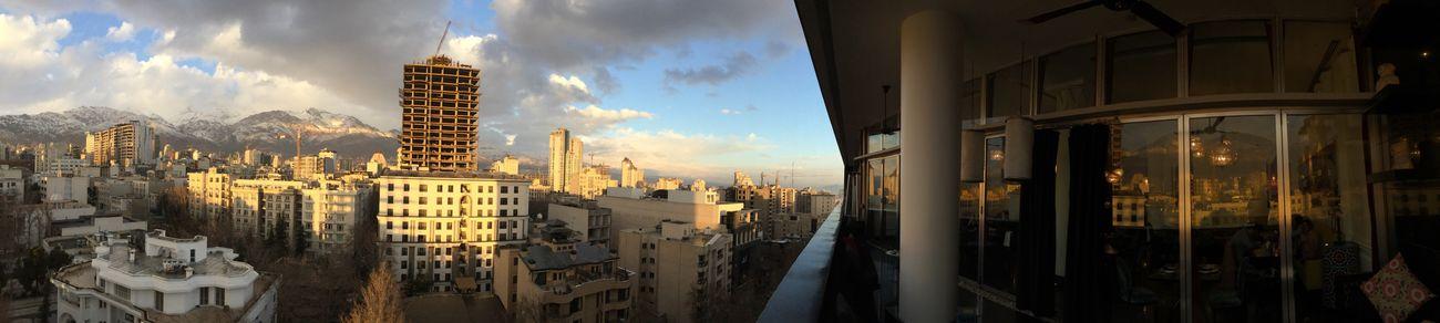 Sky Travel Tehran Architecture Building Exterior Built Structure City Cloud - Sky Residential Building Sam Center Fereshteh Area Divan  Restaurant Terrace Iran