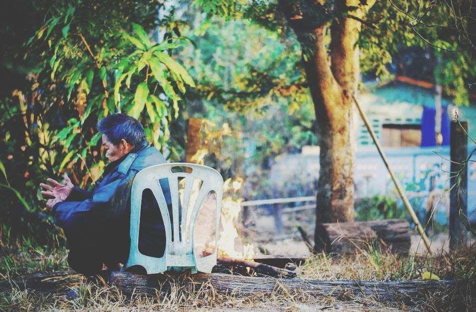 Alone Good Times Cool Back Moments Thailand Morning ระหว่างทาง