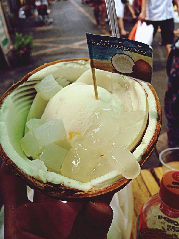 Fabulous coconut ice-cream