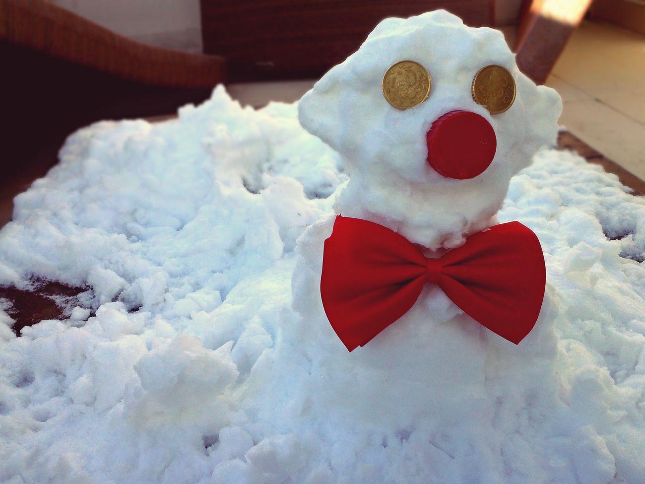 Mi muñeco de Nieve os da los Buenos Días Snow Picoftheday