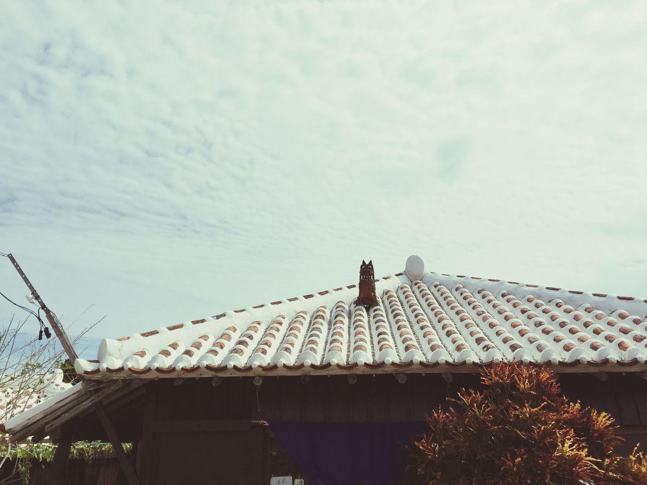Cute♡ House OKINAWA, JAPAN Trip Taketomi Island From Okinwa Blue Sky Sky Beautiful シーサー