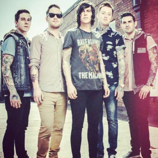 <3 Sleepingwithsirens Sws Justinhills Jesselawson gabebarham kellinquinn jackfowler perfect band music metal tattoos