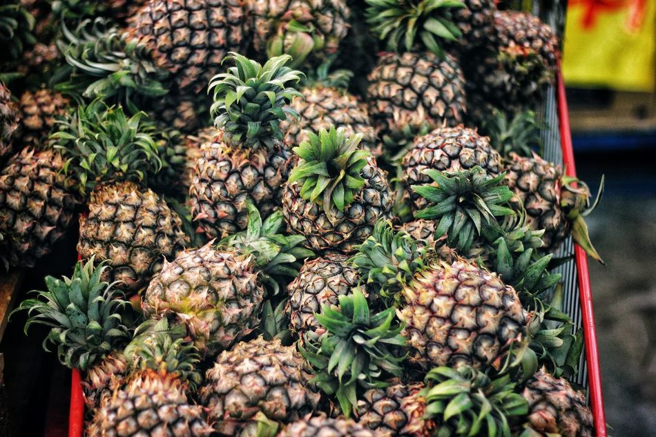 Yummy!! Abundance Close-up Day Diversity EyeEmNewHere Food Food And Drink For Sale Freshness Fruit Green Color Healthy Eating Large Group Of Objects Market Nature No People Outdoors Pineapple Art Is Everywhere EyeEm Diversity