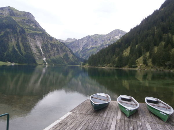 Water reflections in Vilsalpsee, Austria Austria Austrian Alps Austrian Mountains Boats Lake Lakeshore Landscape Mountain Non-urban Scene Outdoors Physical Geography Scenics Tranquil Scene Tranquility Vilsalpsee Water Water Reflections Reflected Glory