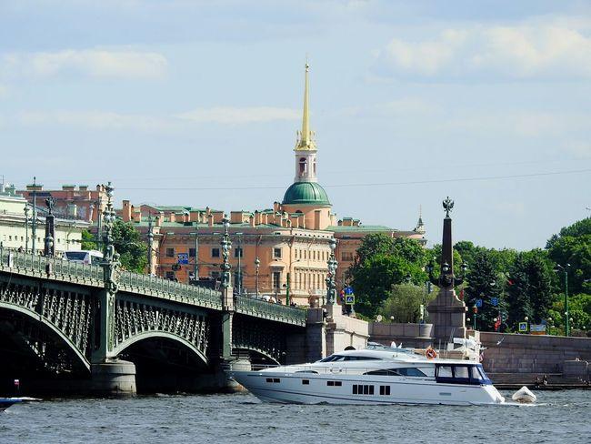 Troickii Bridge Little Boat Castle Mikhailovsky Castle Sankt-Petersburg Russia Neva River Best Place On Earth Summer ☀