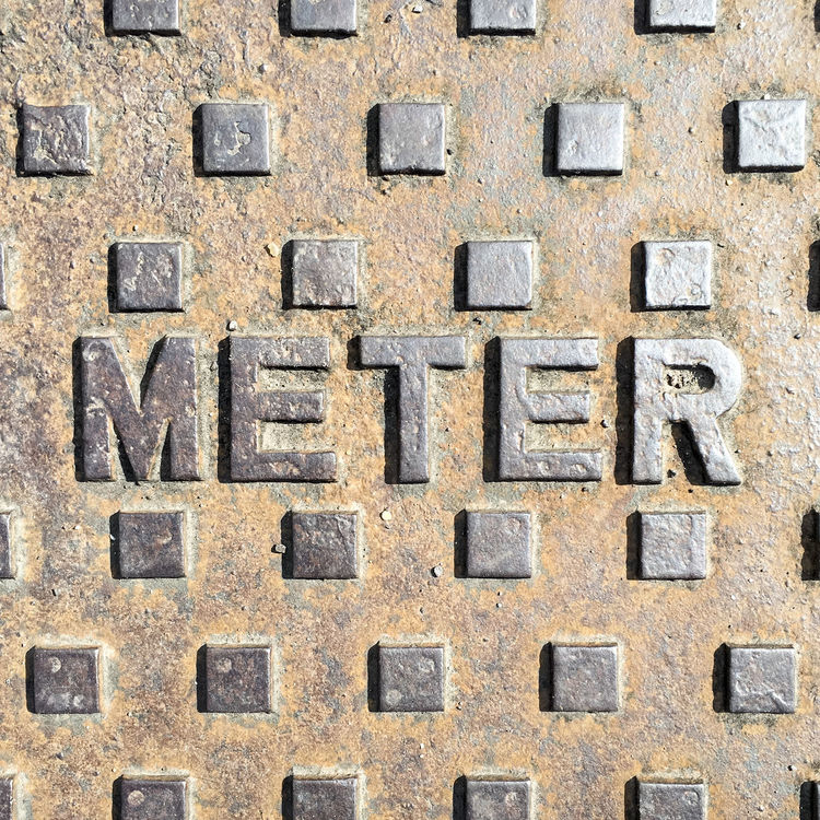 Close up of old metal meter inspection cover in pavement Backgrounds Close-up Cover Design Detail Full Frame Geometric Inspection Iron Metal Metallic Meter Old Outdoors Pattern Pavement Repetition Shapes Sidewalk Squares Steel Surface Texture Worn