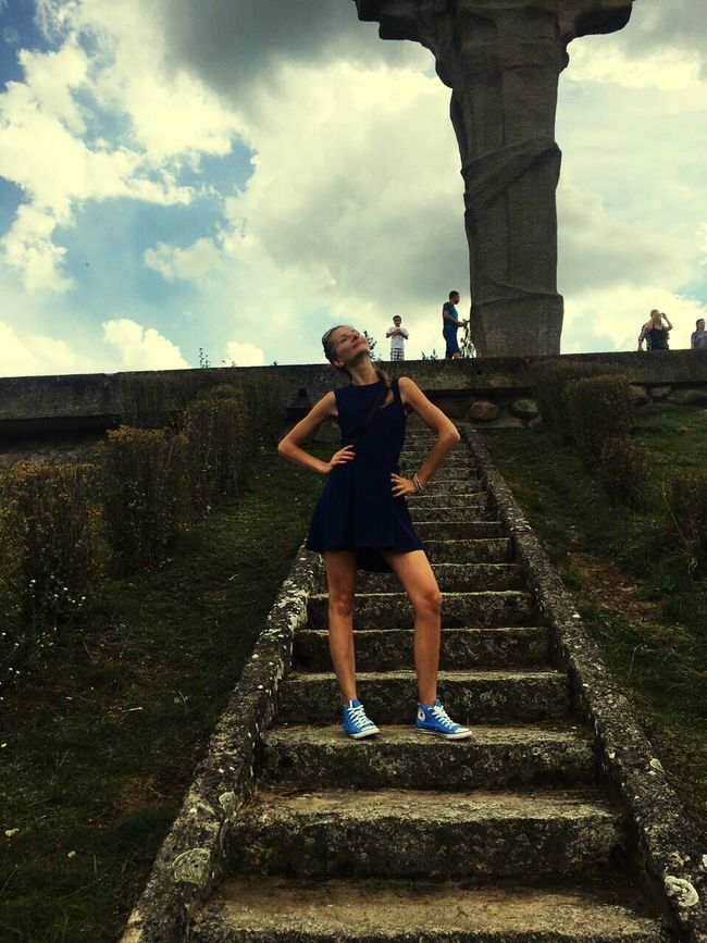 Poland Is Beautiful Polish Girl That Is Me Modeling Long Legs Converse Dress Historical Monuments Clouds And Sky People And Places