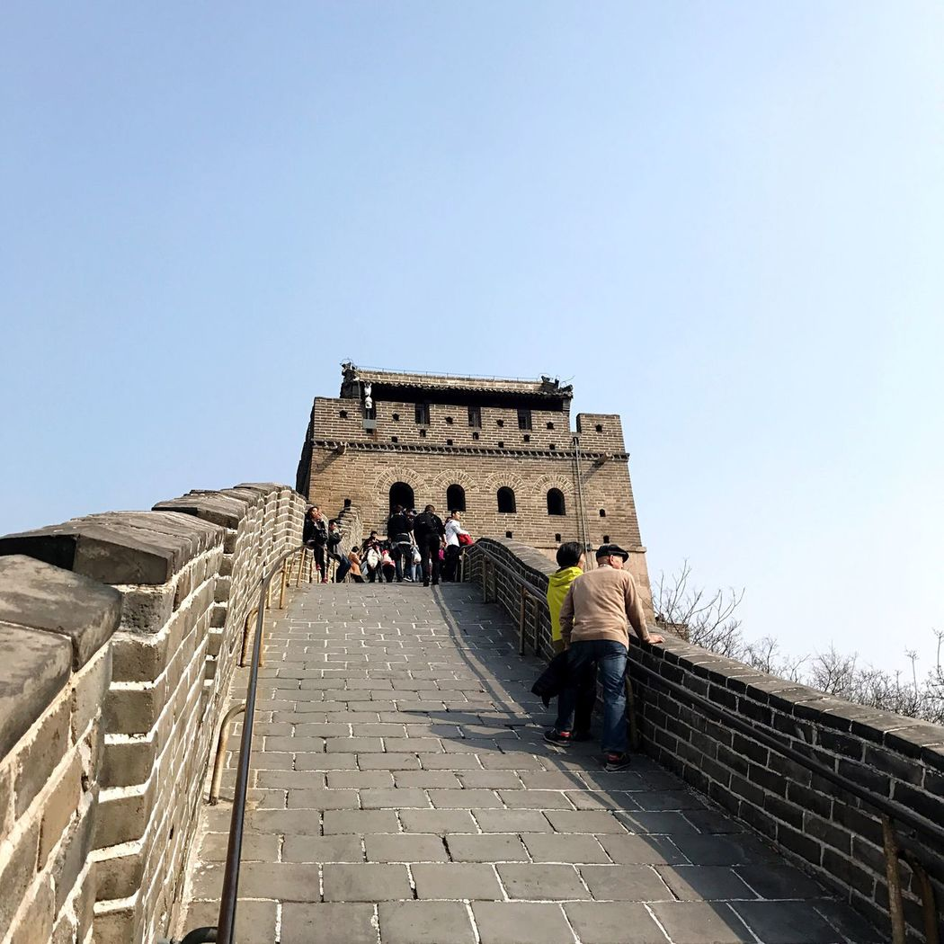 BEIJING北京CHINA中国BEAUTY Historical Building Built Structure Outdoors Scenic Lookout Building Exterior Architecture Clear Sky Real People Copy Space Large Group Of People Lifestyles Travel Destinations Men Tourism Day Steps Low Angle View Sunlight Women Leisure Activity City Steps And Staircases