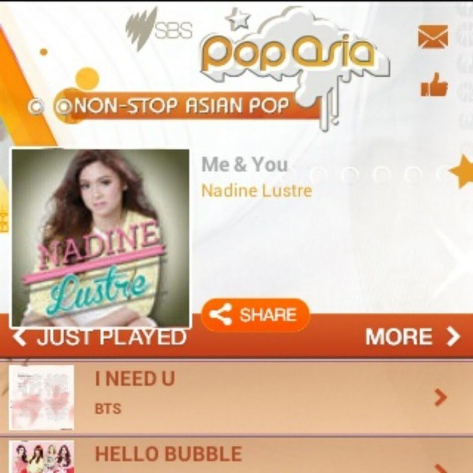 Slayyyy! At number 1 again! 6 more days at the top spot and we're going Titanium! Great job Naddicts Sa Monday ulit! SBSPopAsiaNadine HashtagHits Sbspopasia JADINE NadineLustre