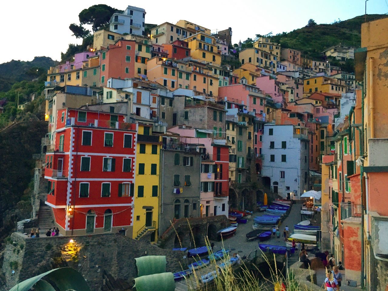 Riomaggiore Cinque Terre Italy Italia National Park UNESCO World Heritage Site Fishing Village Coast Liguria Italian Riviera Dusk Picturesque Beautiful Travel Photography Travel IPhoneography