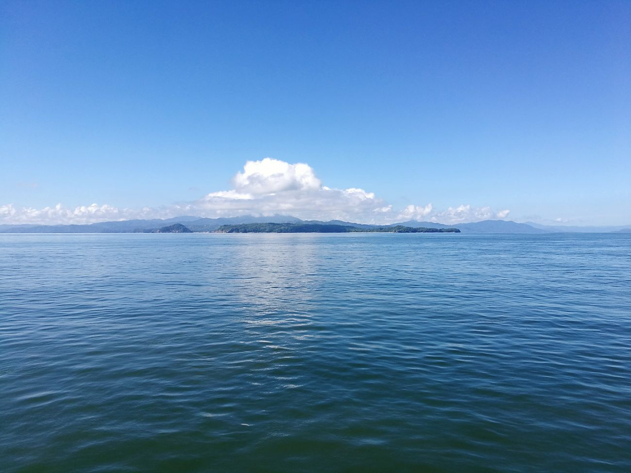 Sea Sky Blue Cloud - Sky Horizon Over Water Beauty In Nature Outdoors Scenics Water No People Day Outdoor Photography Puntarenas Costa Rica Costa Rica❤ No People Outdoors Oceano Pacifico Golfo De Nicoya