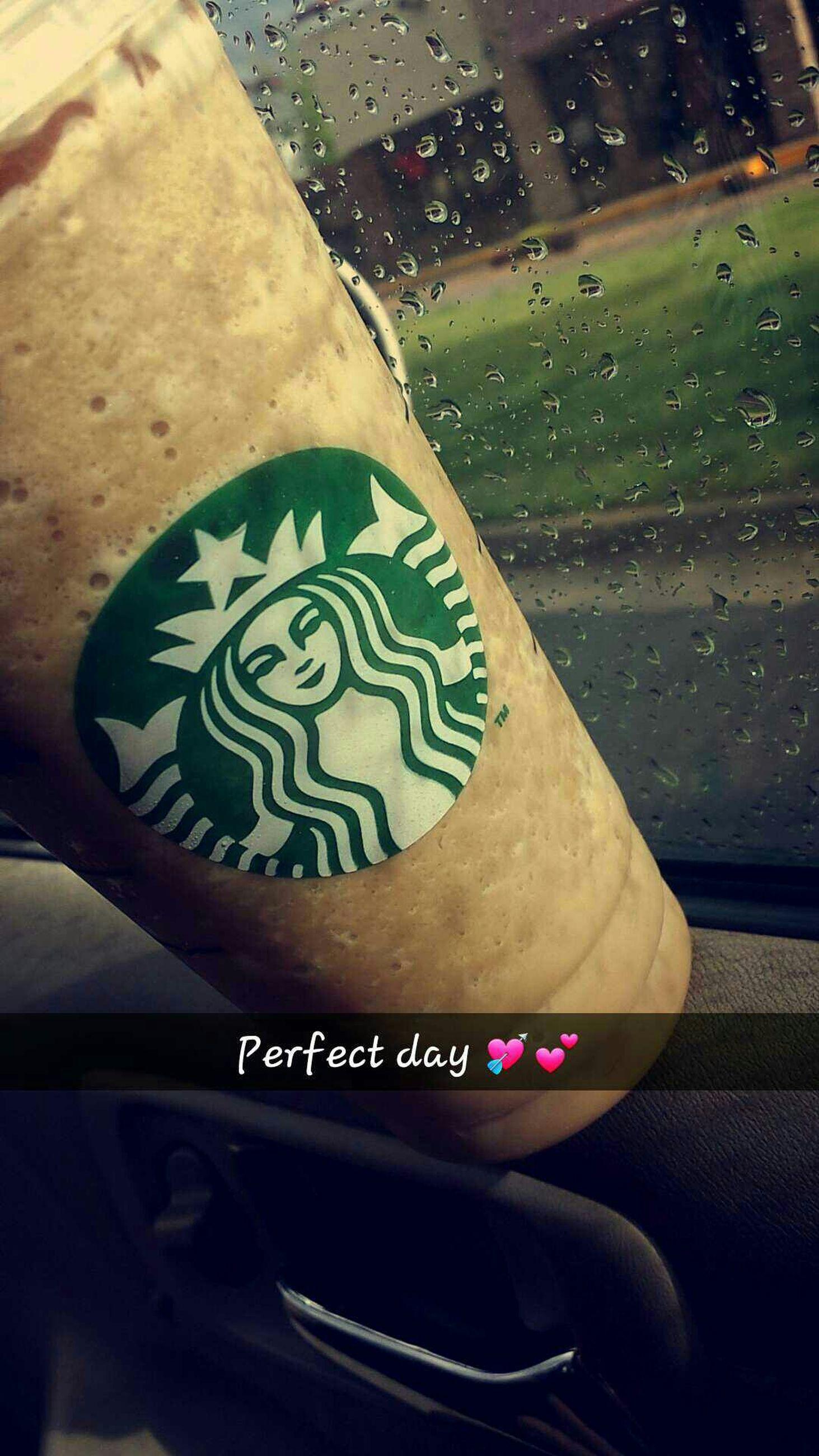 Perfect Day Starbucks Rain Rainy Days☔