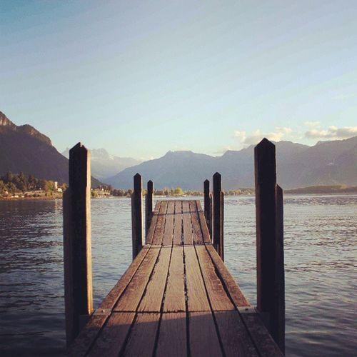 швейцария монтре озеро горы мост switzerland montreux lake mountains bridge