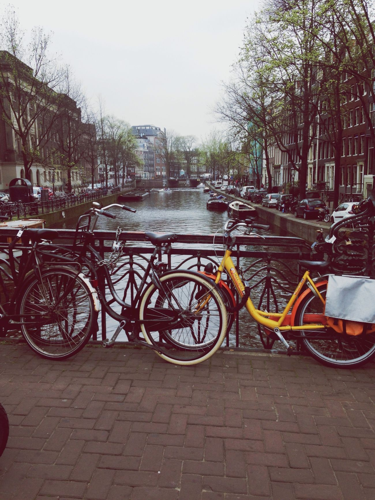 Bikes Outdoors in Amsterdam Water