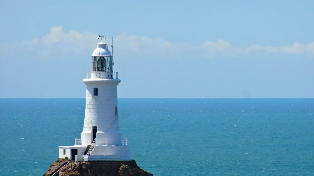Corbière Lighthouse Beauty In Nature Blue Built Structure Calm Cloud Cloud - Sky Day Horizon Over Water Idyllic Lighthouse Nature No People Ocean Outdoors Protection Remote Safety Scenics Sea Seascape Security Sky Tranquil Scene Tranquility Water